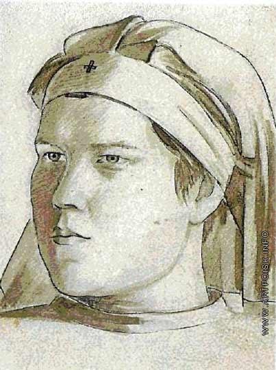 Аб П. Е. Портрет медсестры Коробовой-Кушковой