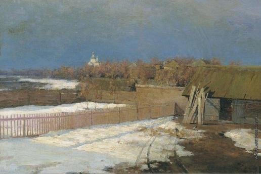 Калмыков И. Л. Деревня весной