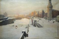 Калмыков И. Л. Москва зимняя. Вид на Кремль с Москворецкого моста