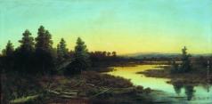 Каменев Л. Л. Вечер на реке
