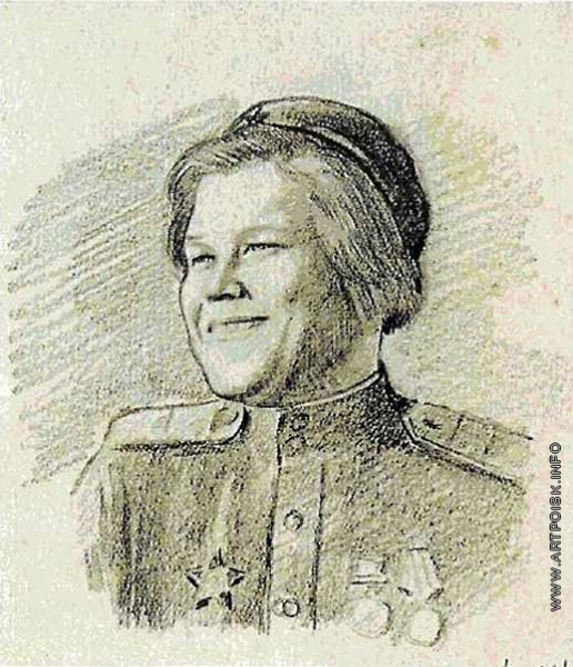 Аб П. Е. Зина Коробова-Кушкова хирургическая сестра МСБ 109 сд