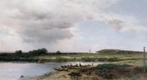 Каменев Л. Л. Вид на реку Казанку