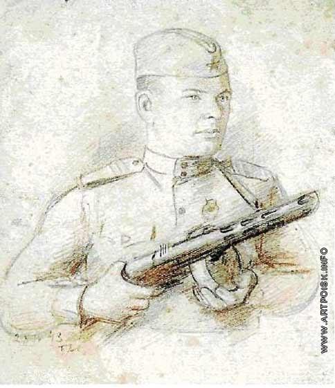 Аб П. Е. Портрет сержанта И.Н. Маврина. 1943