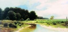 Каменев Л. Л. Летний пейзаж с рекой