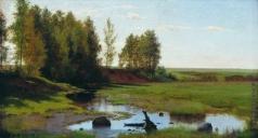 Каменев Л. Л. Летний пейзаж с ручьем