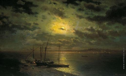 Каменев Л. Л. Лунная ночь на реке