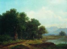 Каменев Л. Л. Озеро в горной долине