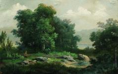 Каменев Л. Л. Охотник в лесу