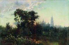 Каменев Л. Л. Пейзаж с колокольней