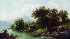 Каменев Л. Л. Пейзаж с рекой