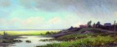 Каменев Л. Л. Саввина слобода близ Звенигорода. Дождь