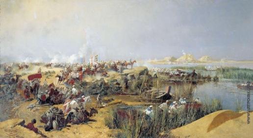 Каразин Н. Н. Переправа туркестанского отряда через Аму-Дарью в 1873 году