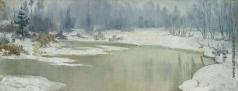 Каринская А. Н. Зимний серенький пейзаж