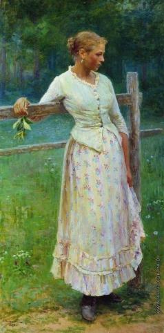 Касаткин Н. А. Девушка у изгороди