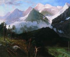 Киселев А. А. Горный пейзаж (Кавказские вершины)