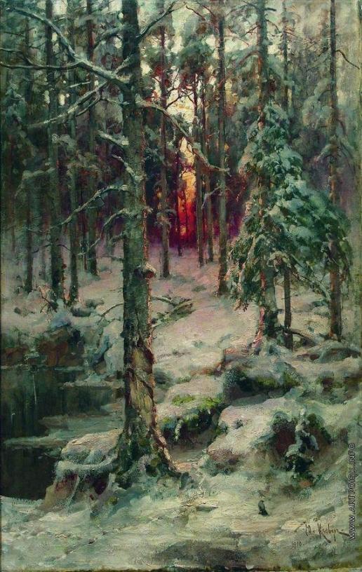 Клевер Ю. Ю. Зима. Сосновый бор