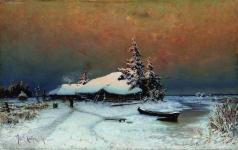 Клевер Ю. Ю. Зимний закат