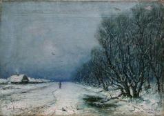 Клевер Ю. Ю. Зимний пейзаж с дорогой