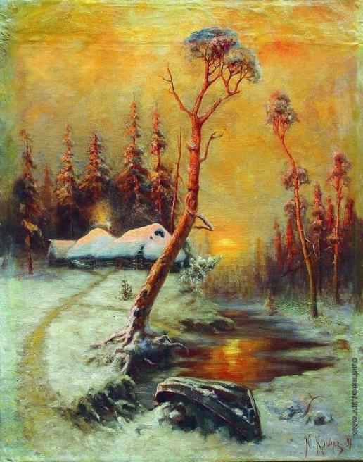 Клевер Ю. Ю. Зимний пейзаж с соснами