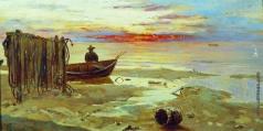 Клевер Ю. Ю. Лодка на берегу