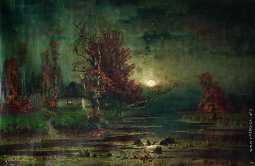 Клевер Ю. Ю. Осенний пейзаж. Вечер. 1880-
