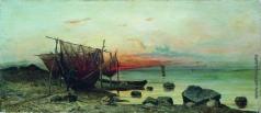 Клевер Ю. Ю. Утро в заливе. Рыбацкие сети