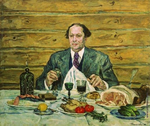 Кончаловский П. П. А.Н.Толстой в гостях у художника