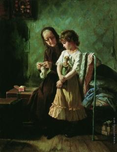 Корзухин А. И. Бабушка с внучкой