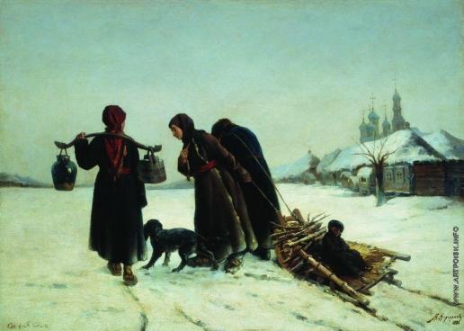 Корзухин А. И. Зимой в деревне