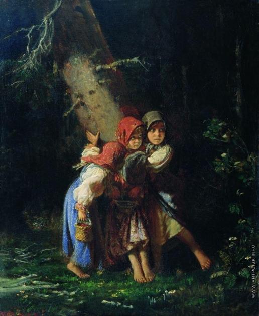 Корзухин А. И. Крестьянские девочки в лесу