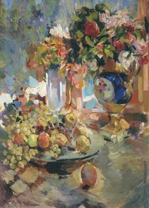 Коровин К. А. Натюрморт с синей вазой
