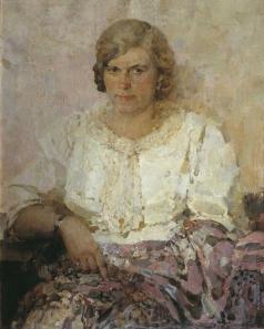 Котов П. И. Портрет жены-художницы З.А. Кожевниковой-Котовой