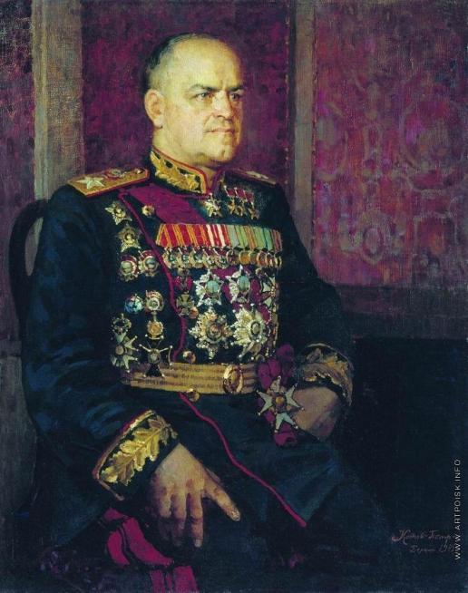 Котов П. И. Портрет маршала Г.К. Жукова
