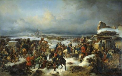 Коцебу А. Е. Взятие крепости Кольберг 6 декабря 1761 года