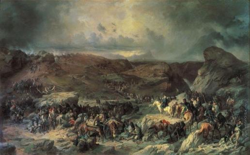 Коцебу А. Е. Переход войск Суворова через Сен-Готард 13 сентября 1799 года