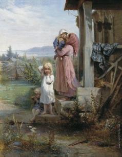 Кошелев Н. А. Утро в деревне