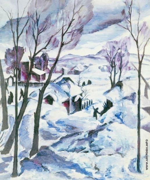 Кравченко А. И. Зима на окраине города