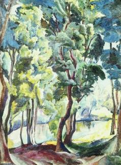 Кравченко А. И. Пруд среди деревьев. Корольковские дачи