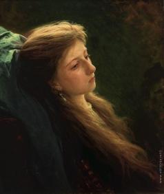 Крамской И. Н. Девушка с распущенной косой