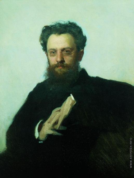 Крамской И. Н. Портрет Адриана Викторовича Прахова, историка искусств и художественного критика