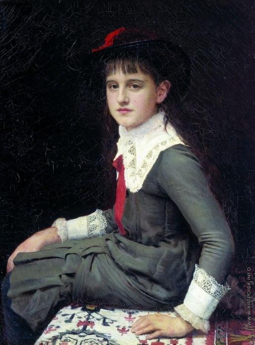 Крамской И. Н. Портрет Варвары Кирилловны Лемох в детстве