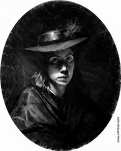 Крамской И. Н. Портрет Софьи Николаевны Крамской (в шляпе)