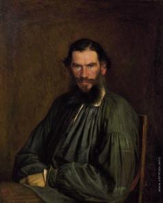 Крамской И. Н. Портрет писателя Льва Николаевича Толстого