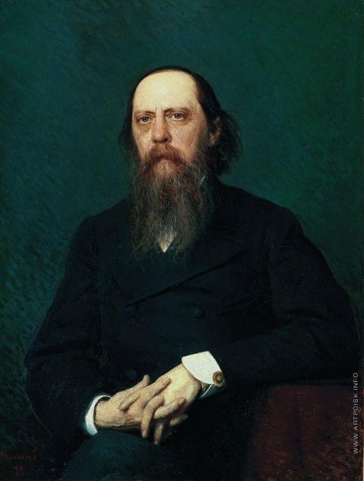 Крамской И. Н. Портрет писателя Михаила Евграфовича Салтыкова (Н. Щедрина)