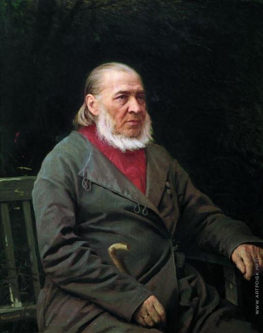 Крамской И. Н. Портрет писателя Сергея Тимофеевича Аксакова
