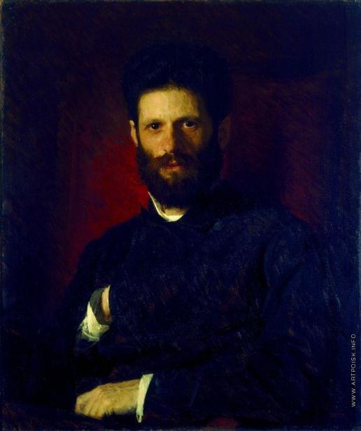 Крамской И. Н. Портрет скульптора Марка Матвеевича Антокольского