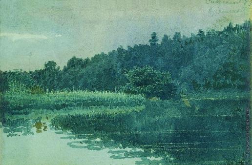 Крамской И. Н. Сиверская. Река Оредеж