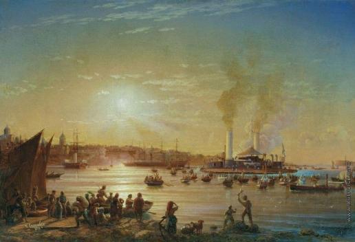 Красовский Н. П. Прибытие поповки «Новгород» в Севастополь. 1873 год