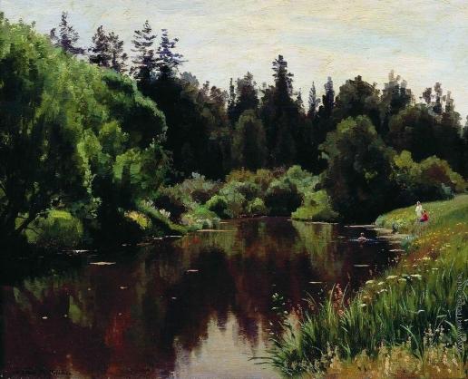 Крачковский И. Е. Пруд в Павловске