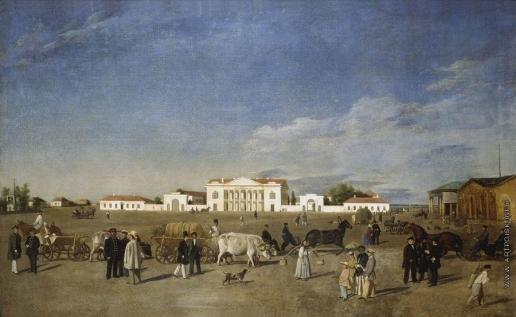 Крендовский Е. Ф. Площадь провинциального города